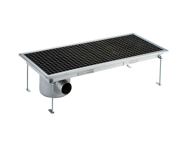 Crystal UMHU0605   Industrial Floor Drain / Horizontal Outlet Ø:70 mm, 118x30x15 cm