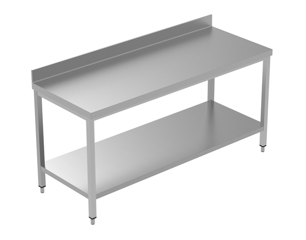 Crystal UMCT0103   Premium Work Table with Lower Shelf 180x60x95 cm