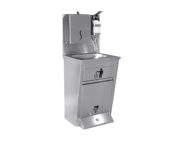 Empero EMPAYK002   Hand Washing Sink (Foot Operated) / Stainless Steel 50x45x85/135 cm