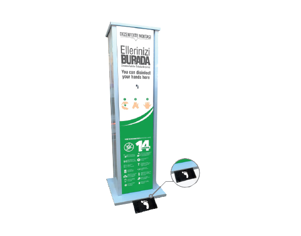 ENS&CO Std A 09   Disinfectant Stand / Sheet Metal 33x120 cm
