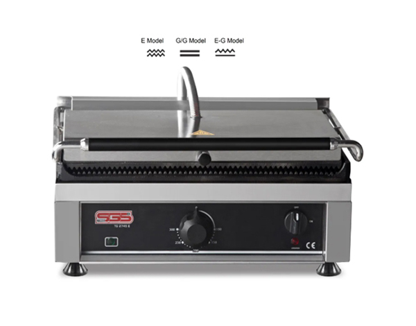 SGS TG 2735   Toaster Grill / Stainless Steel 41x41x28 cm