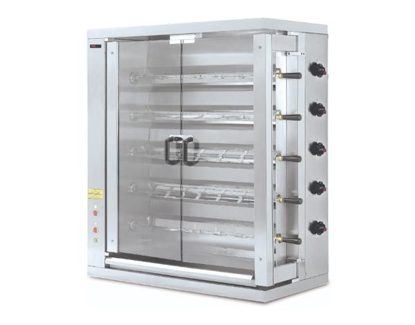 SGS 5EG   Gas Chicken Rotisserie / Stainless Steel 109.8x48x117 cm