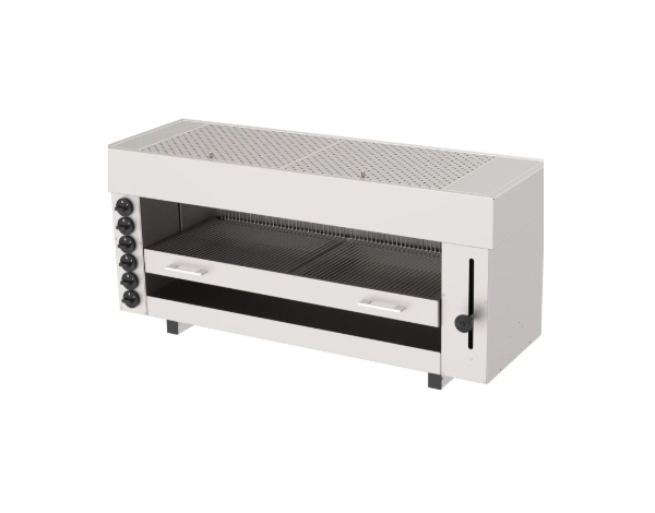 SGS ASM 6G   Salamander Gas Fired Grill / Stainless Steel 129.5x43x60 cm