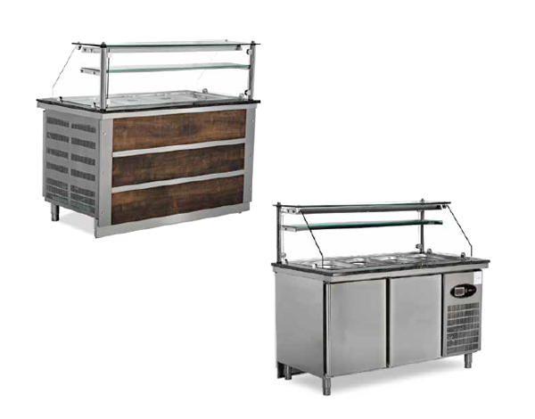 SGS BSS40   Cold Service Unit / Stainless Steel 150x79x85 cm