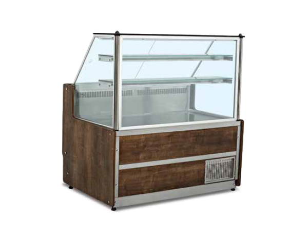 SGS VTD130S   Meat and Appetizer Showcase / Stainless Steel 130x87x135 cm