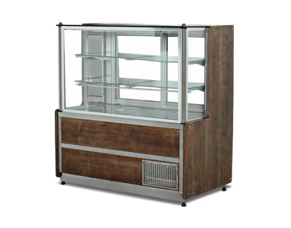 SGS DT160S   Pastry Showcase / Stainless Steel 160x75x135 cm