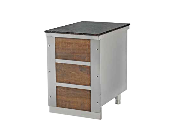 SGS NS70   Neutral Service Unit / Stainless Steel 150x79x85 cm