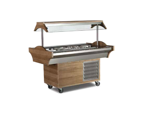SGS SB04   Buffet Salad Bar / Stainless Steel 150x89x87/137 cm
