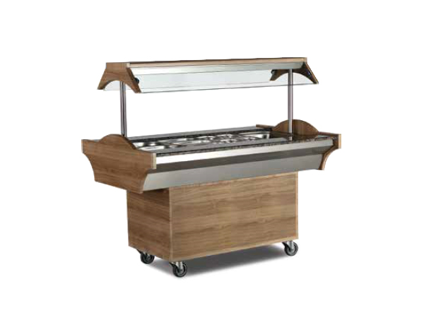 SGS SBS03   Buffet Bainmarie Bar / Stainless Steel 118x89x87/137 cm