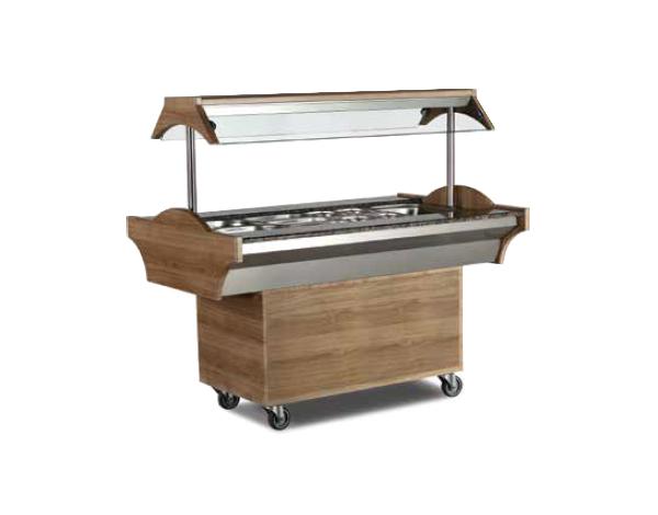 SGS SBS04   Buffet Bainmarie Bar / Stainless Steel 150x89x87/137 cm