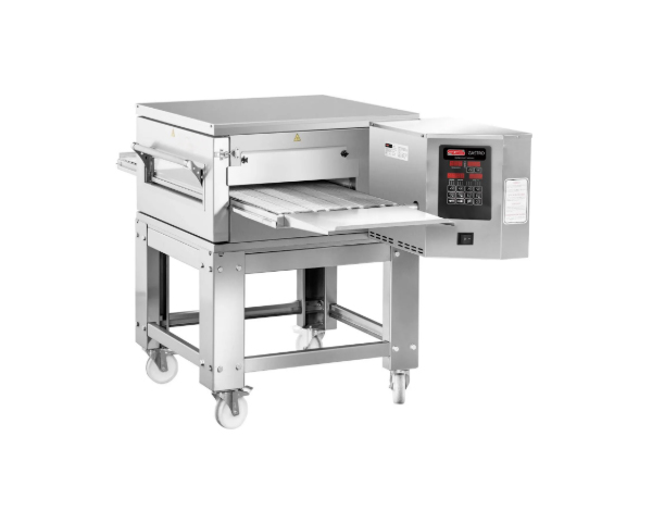 SGS PO K65   Gas Conveyor Pizza Oven / Stainless Steel 170x110x100 cm