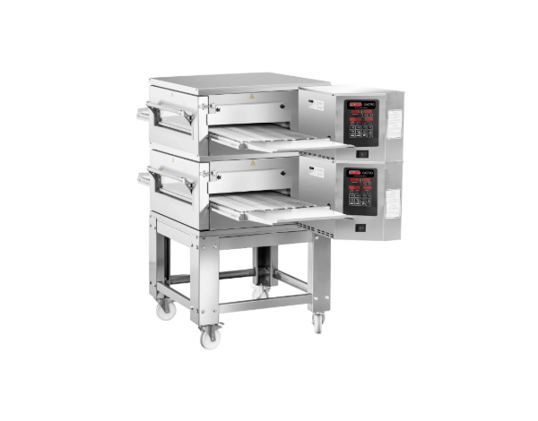 SGS PO KD50   Gas Conveyor Pizza Oven / Stainless Steel 170x110x145 cm