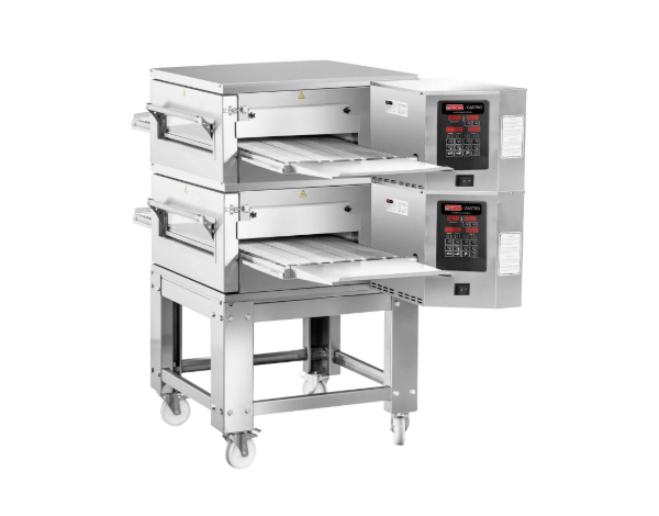 SGS PO KD65   Gas Conveyor Pizza Oven / Stainless Steel 180x120x155 cm