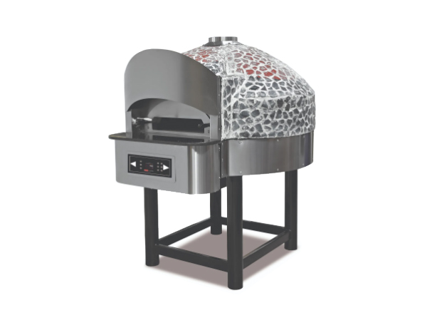 SGS SPO 04   Rotating Gas Pizza Oven / Painted Metal 148.2x172x183.5 cm