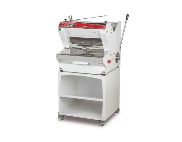 SGS EDS Bench   Bread Slicer Machine / Wood+Painted Metal 65x65x120 cm