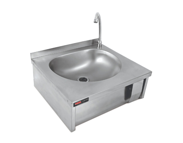 SGS DKE 002   Knee Operating Handwash Basin / Stainless Steel 40x40x22 cm