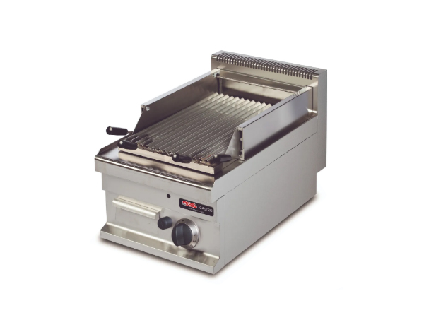 SGS GGL711S   Gas Lava Char Grill / Stainless Steel 40x70x29 cm