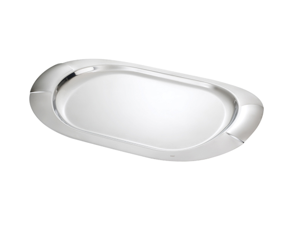 Hisar Monaco   Oval Serving Tray / Stainless Steel 49x31 cm