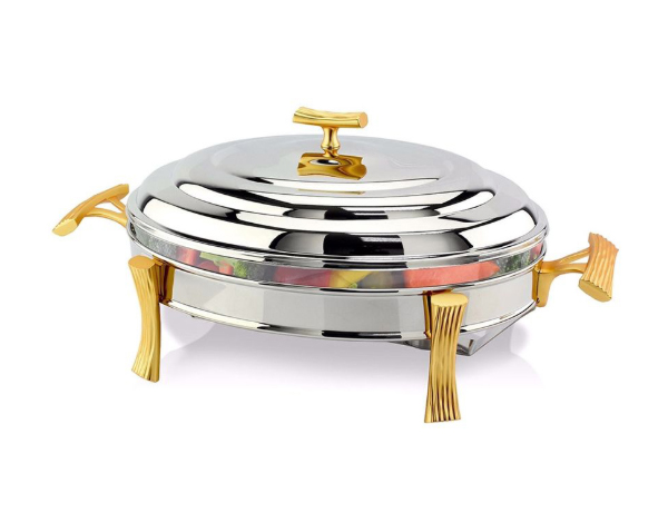 Hisar Milan Gold   Oval Table Serving Set / Stainless Steel