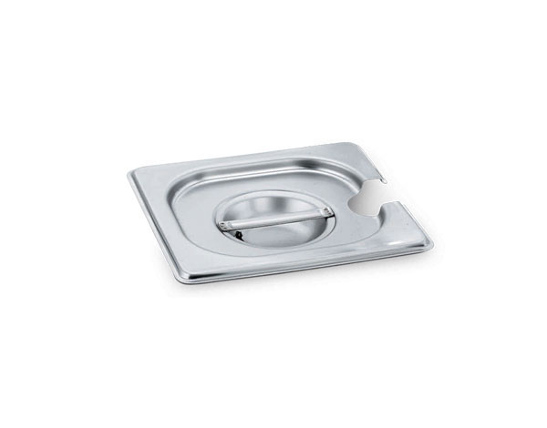 KAPP 32100114   1/4 Gastronom Pan Lid with Ladle Hole / Stainless Steel 265x162 mm