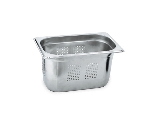 KAPP 30914150   1/4 Perforated GN Pan /  Stainless Steel 265x162x150 mm