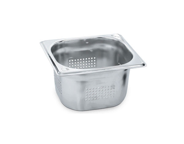KAPP 30916100   1/6 Perforated GN Pan / Stainless Steel 176x162x100 mm