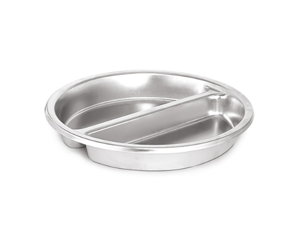 KAPP 70023100   Round Food Pan Divided / Stainless Steel 385x65 mm