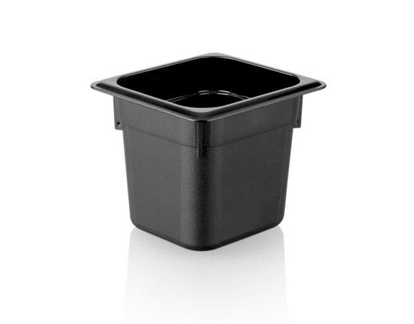 KAPP 46116150   1/6 150 Black Gastronom Pan / Polycarbonate 176x162x150 mm 2.2 Lt