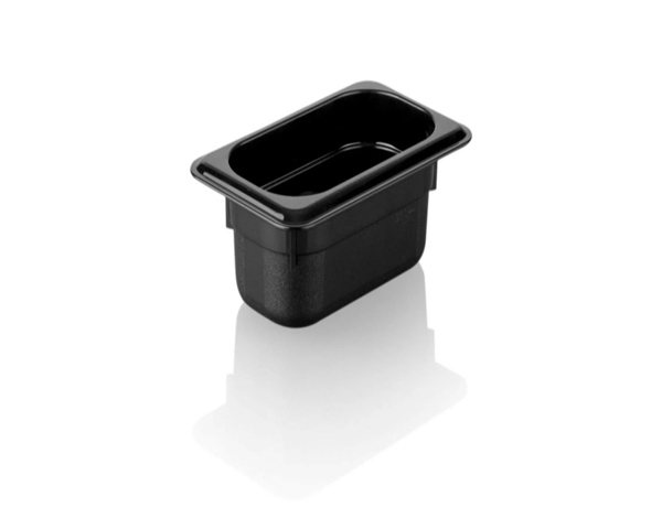 KAPP 46119100   1/9 100 Black Gastronom Pan / Polycarbonate 176x108x100 mm 0.85 Lt