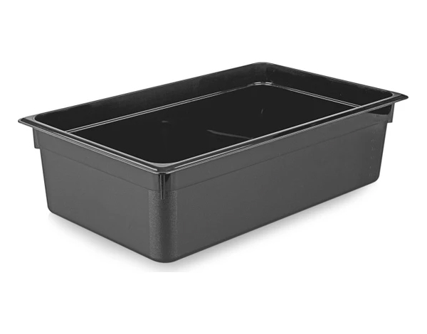 KAPP 46111065   1/1 65 mm Black Gastronom Pan / Polycarbonate 530x325x65 mm 8.5 Lt
