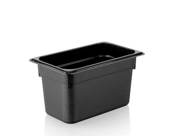 KAPP 46114150   1/4 150 Black Gastronom Pan / Polycarbonate 265x162x150 mm 3.7 Lt