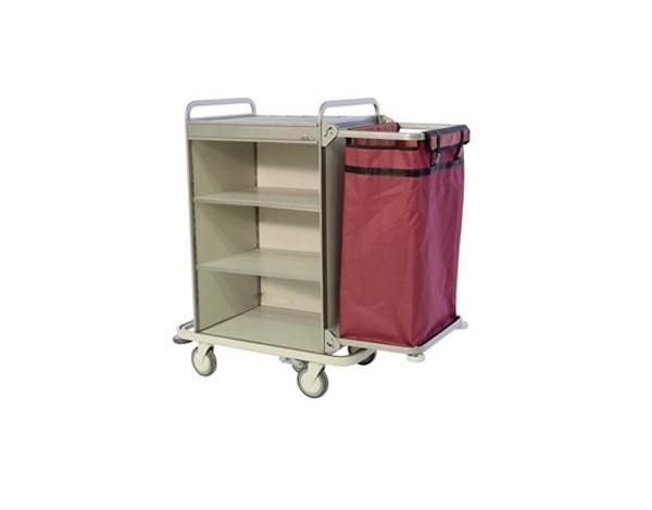 Evinoks EFS 1L   Housekeeping Trolley /  Aluminium Compozite 116/146x60x129 cm